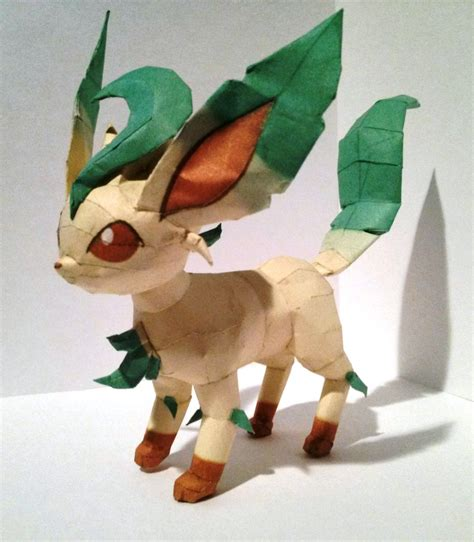 Leafeon Papercraft - leafeon papercraft by twizz3985 on deviantart