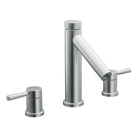 moen level kitchen faucet moen t913 level two handle tub faucet trim chrome
