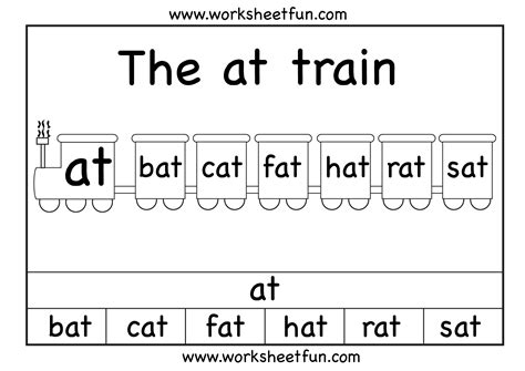 At Word Family Worksheets Free by At Family Worksheets Abitlikethis