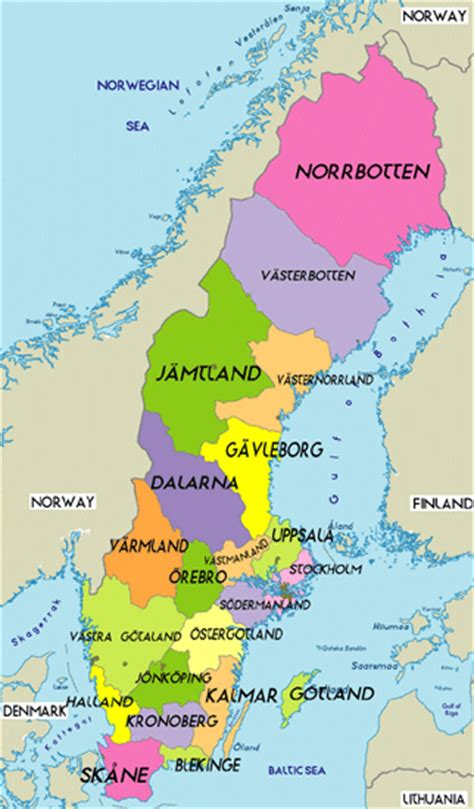 political map of scandinavia october 2011 map of sweden political region province city