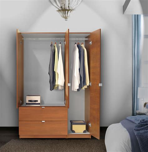 Door Armoire by Alta Wardrobe Armoire 3 Door Armoire Right Opening Contempo Space