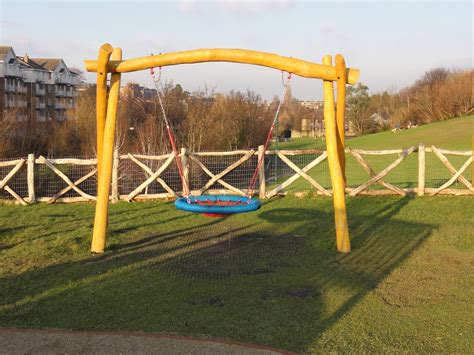 playground with swings basket swing with rope net basket 4 005 02 the