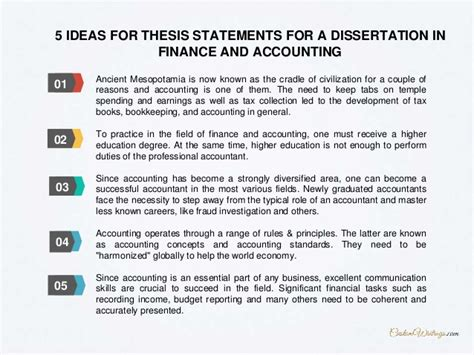 accounting and finance dissertation complete guide on writing a dissertation in finance and