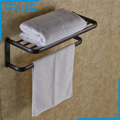 Bathroom Towel Holders Accessories Bathroom Accessories ᐂ Rubbed Rubbed Bronze Black Brief Fixed Bath Bath Towel Holder