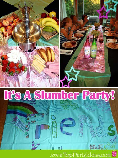 themes for a girl slumber party sleepover party ideas birthdays pinterest