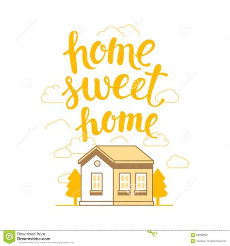 vector home sweet home poster stock vector image 68368923