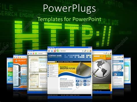 powerpoint templates for web pages powerpoint template internet depiction with web browser