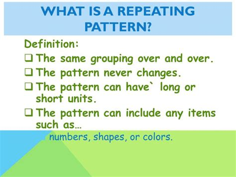 pattern definition in english ppt repeating and growing patterns powerpoint