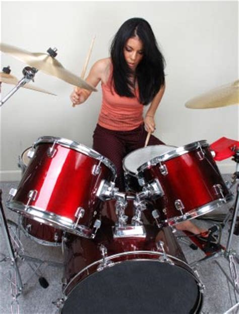 hot chick playing drums misbah friends