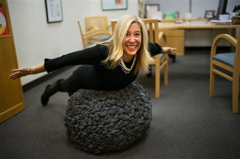 sitting on exercise ball at desk the stability ball as a way to exercise at the office