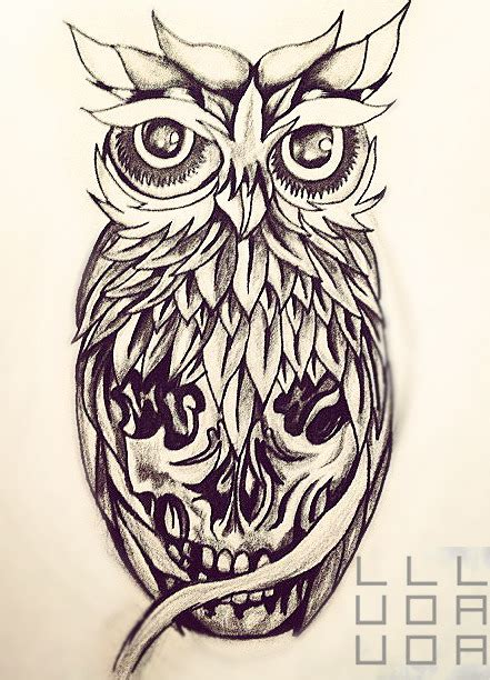 owl and skull tattoo designs owl sugar skull