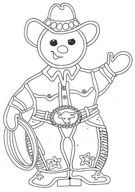 gingerbread baby page coloring pages