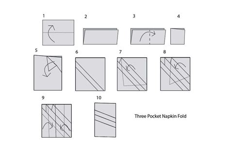 Paper Folding Service - three types of origami napkin folds for your table