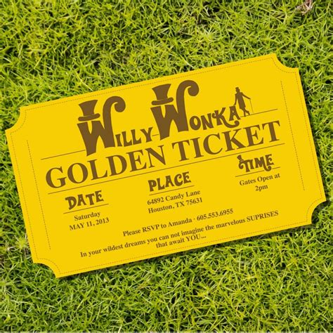 willy wonka invitations templates willy wonka golden ticket invitations from