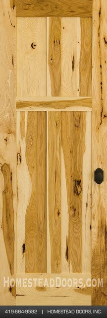 Interior Hickory Doors Rustic Hickory 4 Panel Wood Door Traditional Interior Doors Cleveland By Homestead Doors