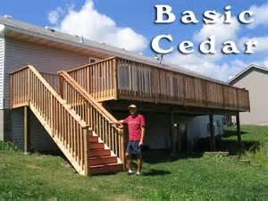 basic deck basic cedar railing