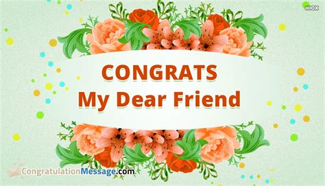 Wedding Congratulation To A Friend by Congrats My Dear Friend Congratulationmessage