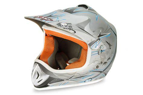Helm Gm B2 kimo xtreme kinder crosshelm sport silver matt motocross kindermotorrad pit dirt bike