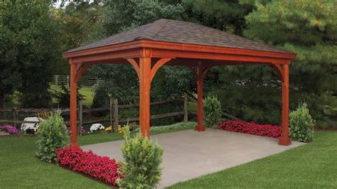 building a backyard pavilion keystone style wood pavilion kit build on site