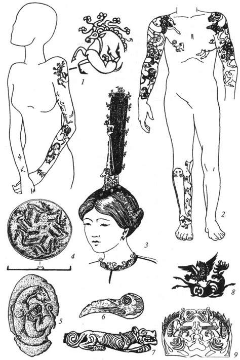 scythian tattoo designs ancient mummy tattoos search pinteres