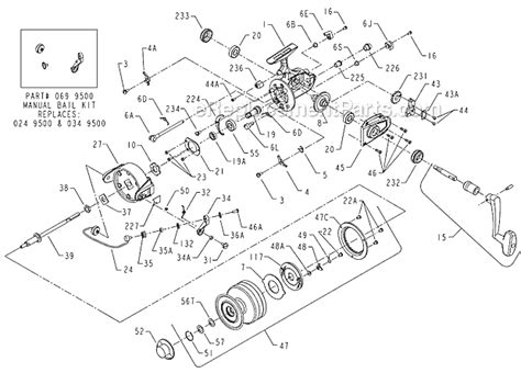 penn reel diagrams penn 9500ss parts list and diagram ereplacementparts