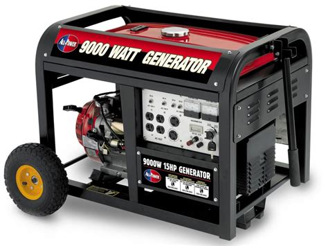 all power america 9000 watt peak 15hp generator with