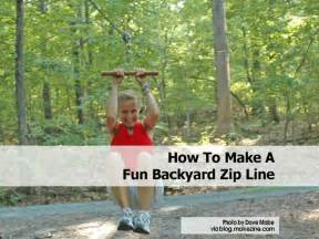 How To Make A Zip Line For Your Backyard How To Make A Fun Backyard Zip Line