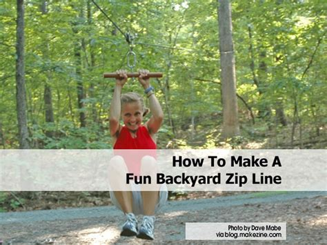 how to make a backyard zip line