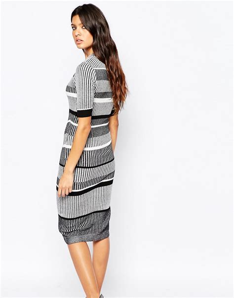 river island knitted dress river island river island striped knitted midi dress at asos