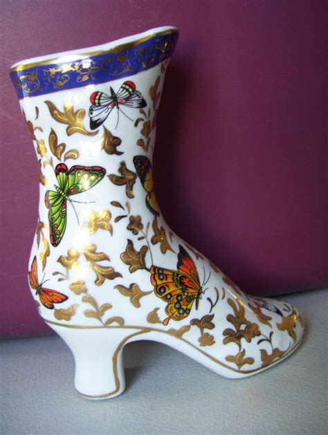 Formalities By Baum Bros Vase by Beautiful Butterfly Porcelain Heel Shoe