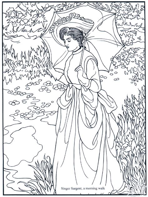 Painter S Sargent Art Coloring Pages Artist Coloring Pages