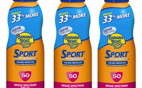 banana boat sunscreen article sunscreen recall stop drop roll may save your life