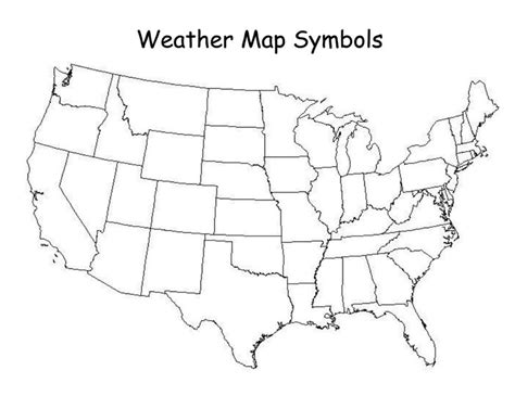 weather map symbols weather map classroom science maps weather and symbols