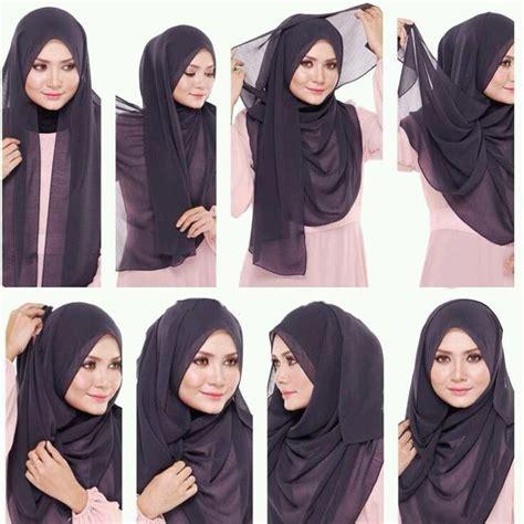 tutorial jilbab pashmina jersey visit www twetinfo com hijabers hijab jilbab kerudung