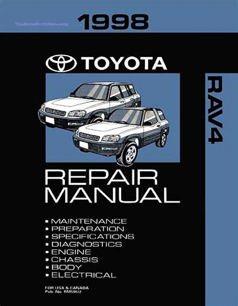 service manual work repair manual 1998 toyota rav4 toyota rav4 repair manual ebay
