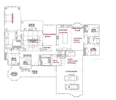large kitchen house plans one story 5 bedroom house a place to call home