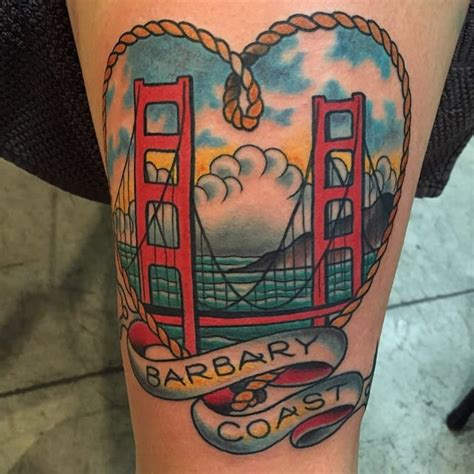 golden gate bridge tattoo 11 colorful golden gate bridge tattoos tattoodo