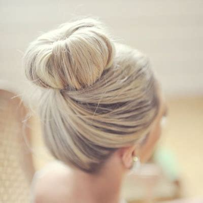 awesome wedding hair for wearing a quot top knot quot bun