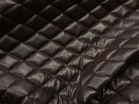 buy leather for upholstery brown faux leather quilted vinyl fabric with 3 8 foam