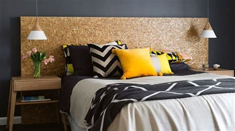 tete de lit en bois fait maison tete de lit en
