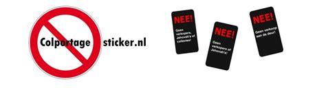 deur tot deur verkoop nee colportage sticker colportage sticker