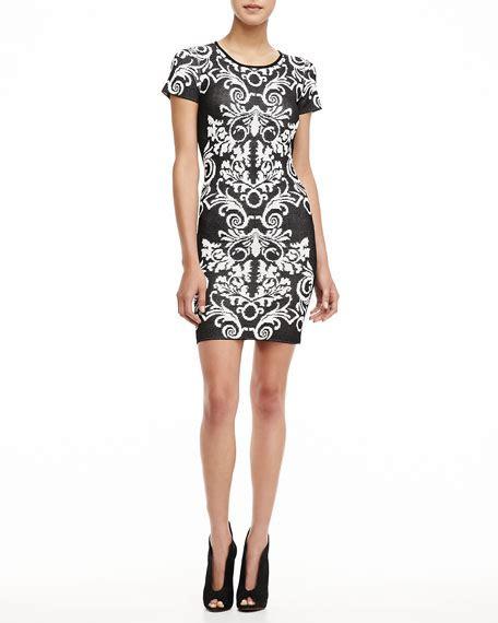 Sleeve Patterned Dress sleeve patterned knit dress