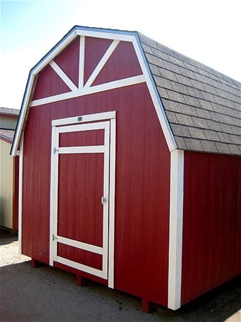 10x12 Gambrel Shed by California Custom Sheds 10x12 Gambrel Roof