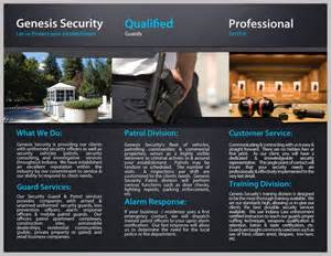 Security Company Brochure Template by Genesis Security Brochure Design J646 Design I
