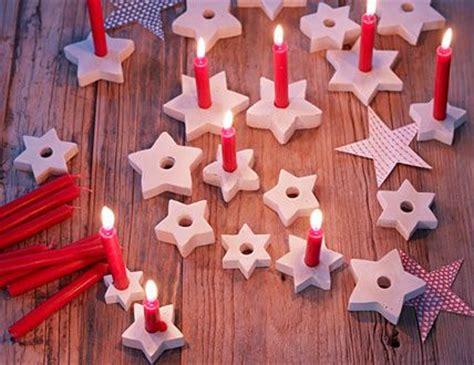 kerzenhalter selber basteln papier weihnachtsdeko selber machen kerzenhalter kerzen und sterne