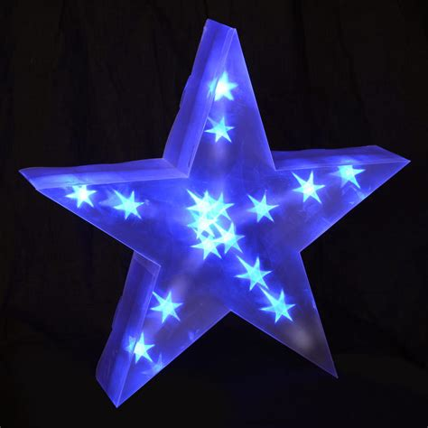 light up decorations holographic led light up 40cm battery