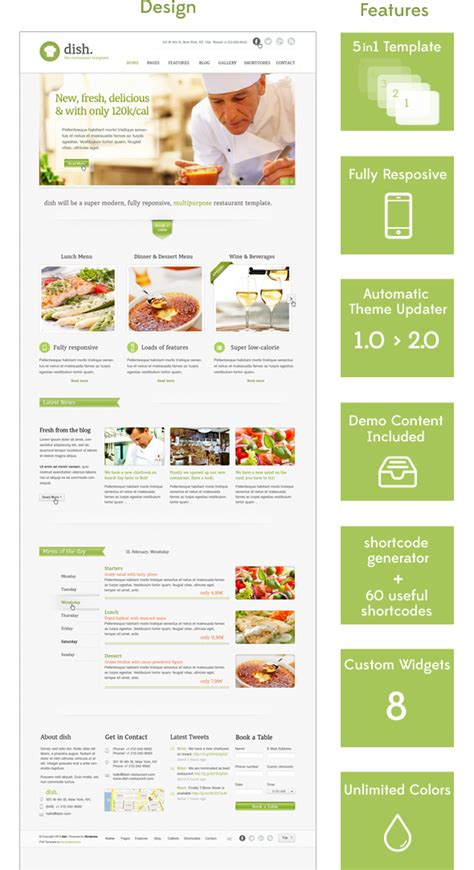 dish restaurant multipurpose wordpress theme entertainment