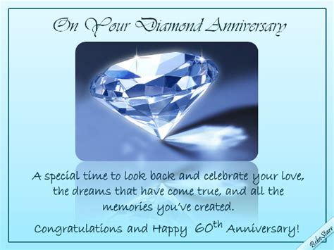 diamond anniversary wishes  milestones ecards