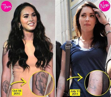 megan fox tattoo removal before and after 17 best images about removal before and after on