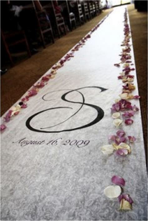 Vinyl Wedding Aisle Runner by Aisle Runner Could Diy On The Monogram This Was Done